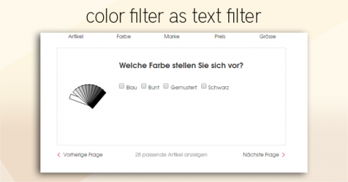 color filter as text filter